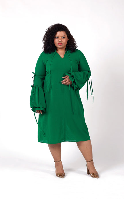 Favie Curvy Fashion Elvi Kleid Trompetenärmel