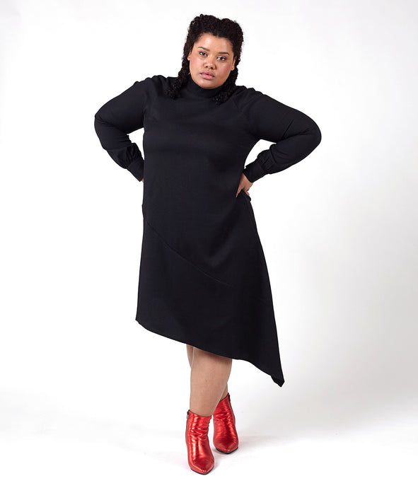 Favie Curvy Fashion Elvi asymmetrisches Kleid