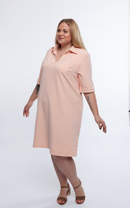 Favie Curvy Fashion Hemdblusenkleid Front