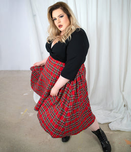 Favie Curvy Fashion Loudbodies Rock Schotten-Karo Vorderansicht