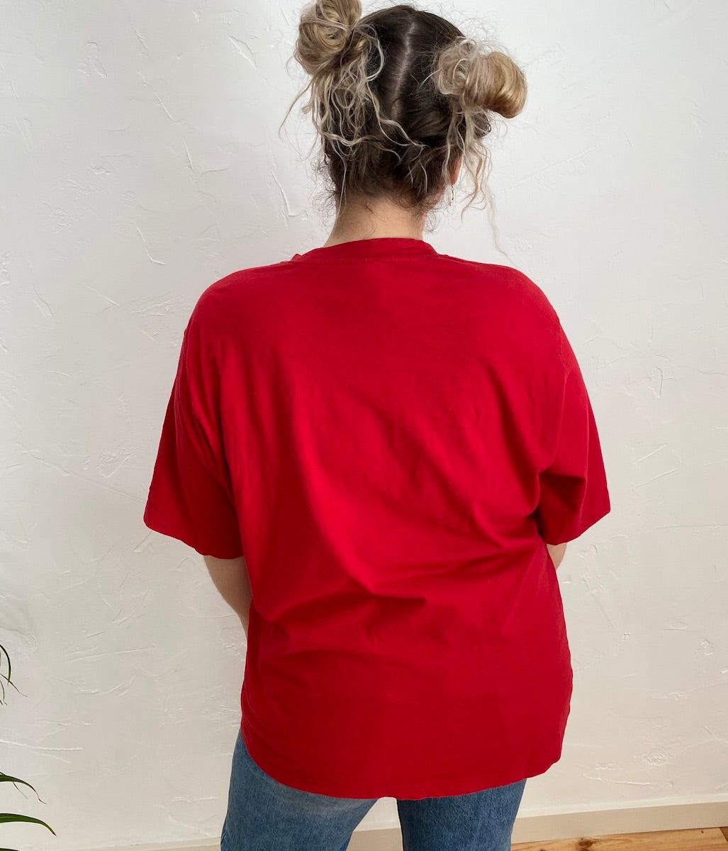 Laden Sie das Bild in den Galerie-Viewer, EU 48 Rotes Adidas T-Shirt