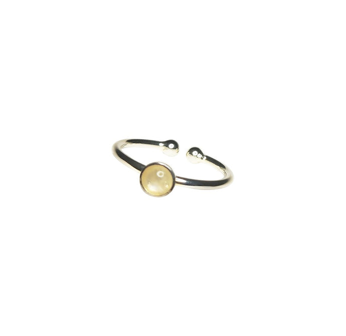 Favie Curvy Fashion Ring Mondstein silber size-inclusive (tiny)