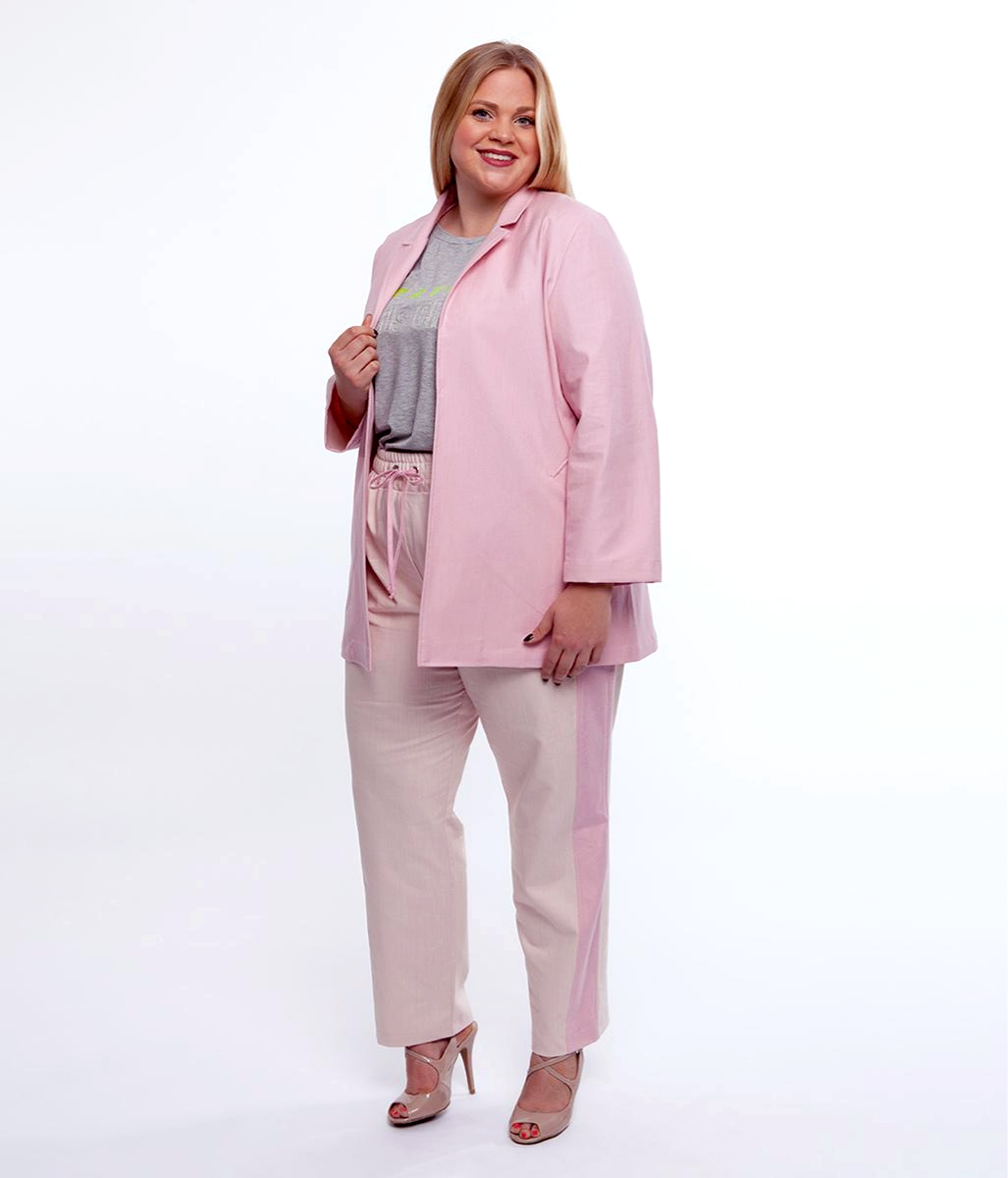 Laden Sie das Bild in den Galerie-Viewer, Favie Curvy Fashion Blazer Seite Plus Size