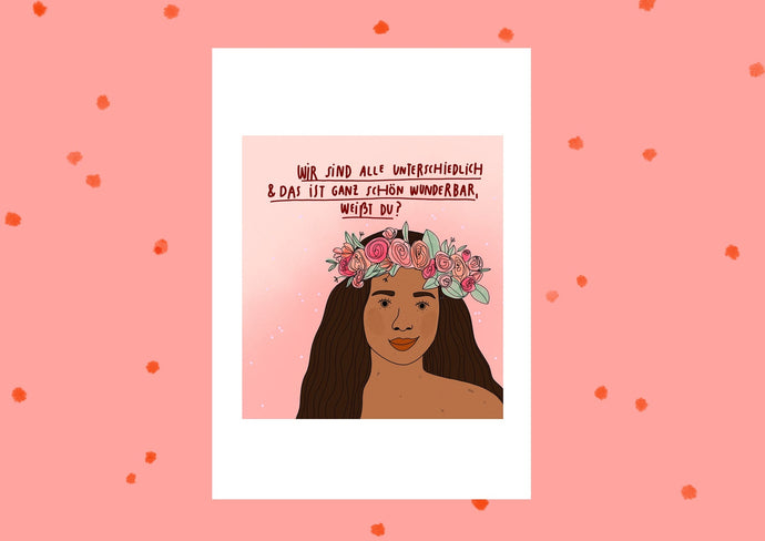 Favie Curvy Fashion Konfettikrake Poster Selbstliebe Body Positivity