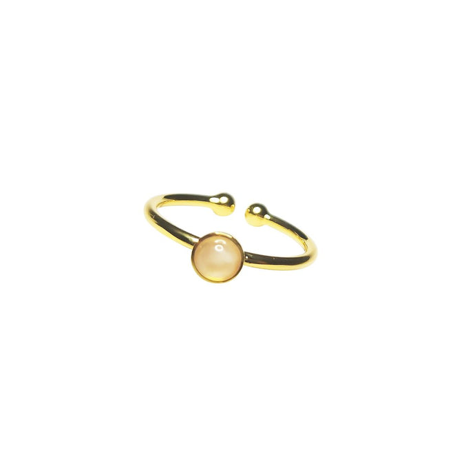 Favie Curvy Fashion Ring Mondstein gold size-inclusive (tiny)