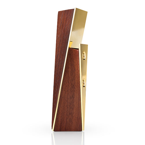 Acacia and Gold Bottle Opener