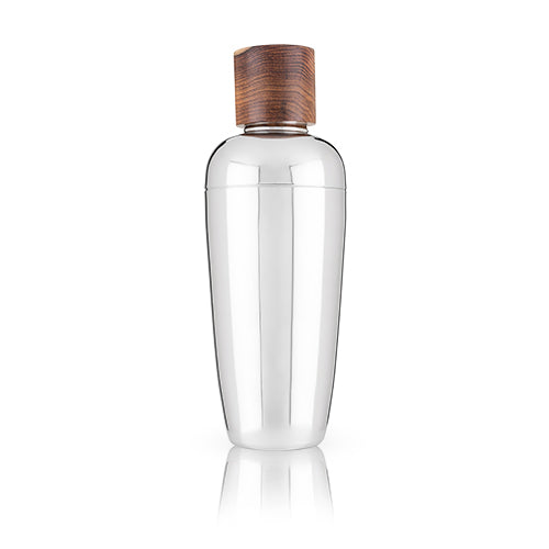 Wood and Stainless Steel Cocktail Shaker