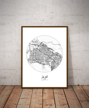 Load image into Gallery viewer, Mapospheres New York Black and White round shape design poster city map