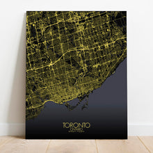 Load image into Gallery viewer, Mapospheres Toronto Night Design full page design canvas city map