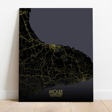 Load image into Gallery viewer, Mapospheres Moule Night Design full page design canvas city map