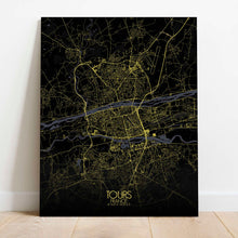 Load image into Gallery viewer, Mapospheres Tours Night Design full page design canvas city map