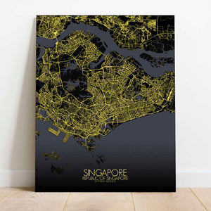 Mapospheres Siingapore Night Design full page design canvas city map