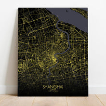 Load image into Gallery viewer, Mapospheres Shanghai Night Design full page design canvas city map