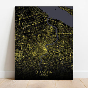Mapospheres Shanghai Night Design full page design canvas city map