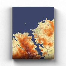 Load image into Gallery viewer, Mapospheres Saint Malo Elevation Map full page design canvas city map