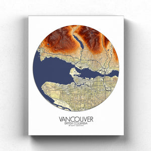 Mapospheres Vancouver full page design canvas elevation map