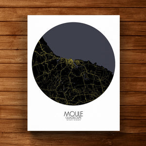 Mapospheres Moule Night round shape design canvas city map