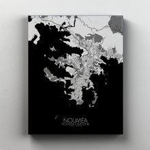 Load image into Gallery viewer, Mapospheres Noumea Black and White full page design canvas city map