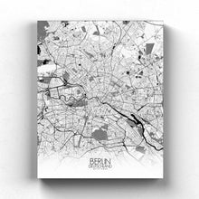 Load image into Gallery viewer, Mapospheres Montreal Black and White full page design canvas city map