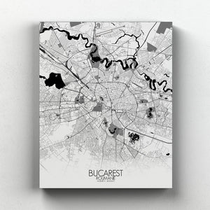 Mapospheres bucharest Black and White full page design canvas city map