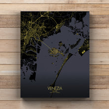 Load image into Gallery viewer, Mapospheres Venice Night full page design canvas city map