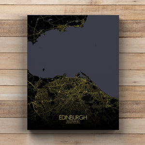 Mapospheres Edinburgh Night full page design canvas city map