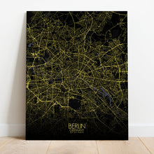 Load image into Gallery viewer, Mapospheres Montreal Night full page design canvas city map