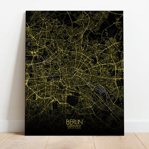 Mapospheres Montreal Night full page design canvas city map