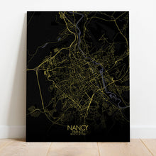 Load image into Gallery viewer, Mapospheres Nancy Night full page design canvas city map