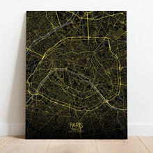 Load image into Gallery viewer, Mapospheres Paris Night Design full page design poster city map
