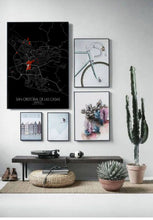 Load image into Gallery viewer, Mapospheres San Cristobal Night round shape design poster city map