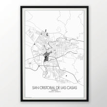 Load image into Gallery viewer, Mapospheres San Cristobal Black and White round shape design poster city map