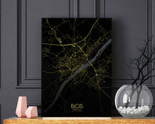 Load image into Gallery viewer, Blois Night full page design poster city map