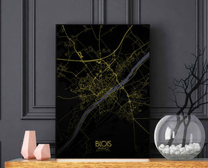 Blois Night full page design poster city map
