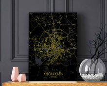 Load image into Gallery viewer, Khonkaen Night full page design poster city map