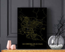 Load image into Gallery viewer, Mapospheres San Cristobal Night full page design poster city map