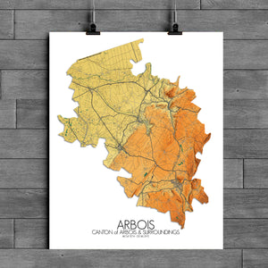 Arbois | France | Elevation map