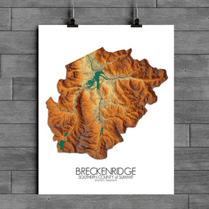 Breckenridge | Colorado | Elevation map