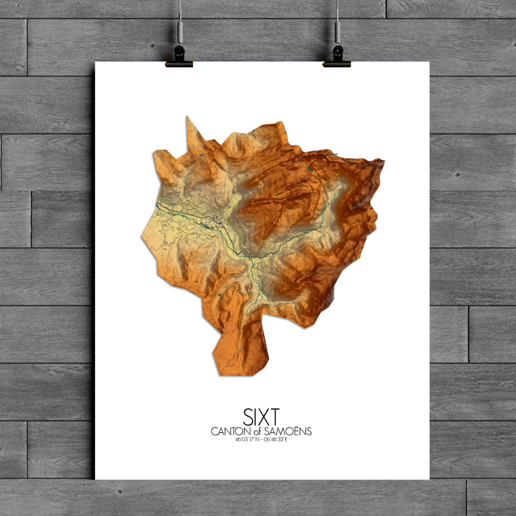 Sixt | France | Elevation map