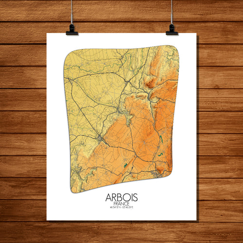 Arbois | Elevation map
