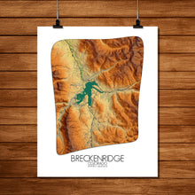 Load image into Gallery viewer, Breckenridge | Colorado | Elevation map