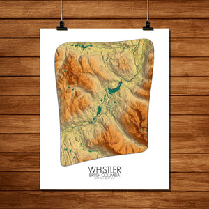 Whistler | British Columbia, Canada | Elevation map