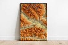 Load image into Gallery viewer, Lienz | Austria | Elevation map