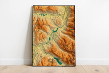Load image into Gallery viewer, Whistler | British Columbia, Canada | Elevation map