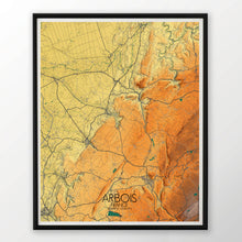 Load image into Gallery viewer, Arbois | France | Elevation map