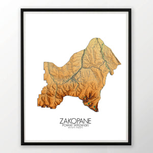 Zakopane | Poland | Elevation map