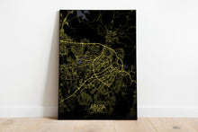 Load image into Gallery viewer, Mapospheres Abuja Night full page design poster city map