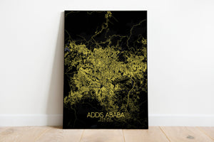 Mapospheres Addis Ababa Night full page design poster city map