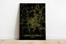 Load image into Gallery viewer, Mapospheres Clermont Night full page design poster city map