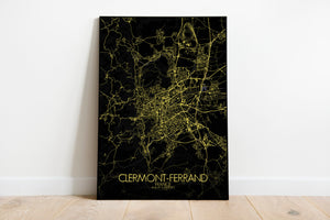 Mapospheres Clermont Night full page design poster city map